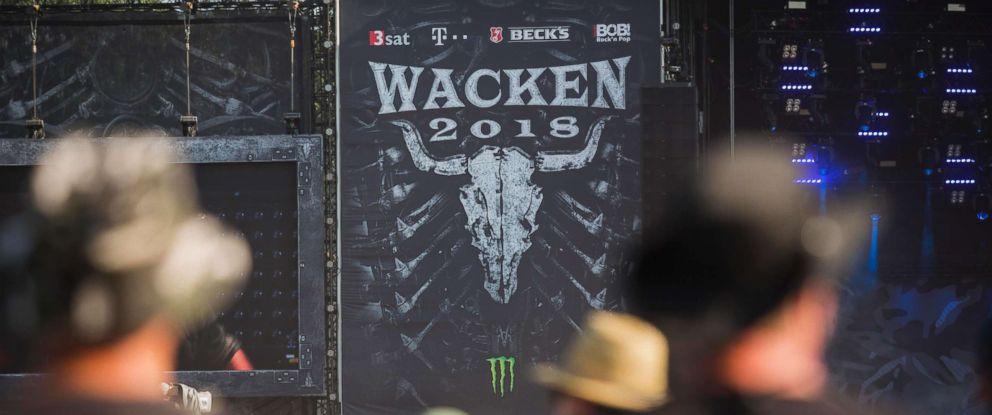 PHOTO: General view of the Wacken Open Air festival, Aug. 2, 2018, in Wacken, Germany.