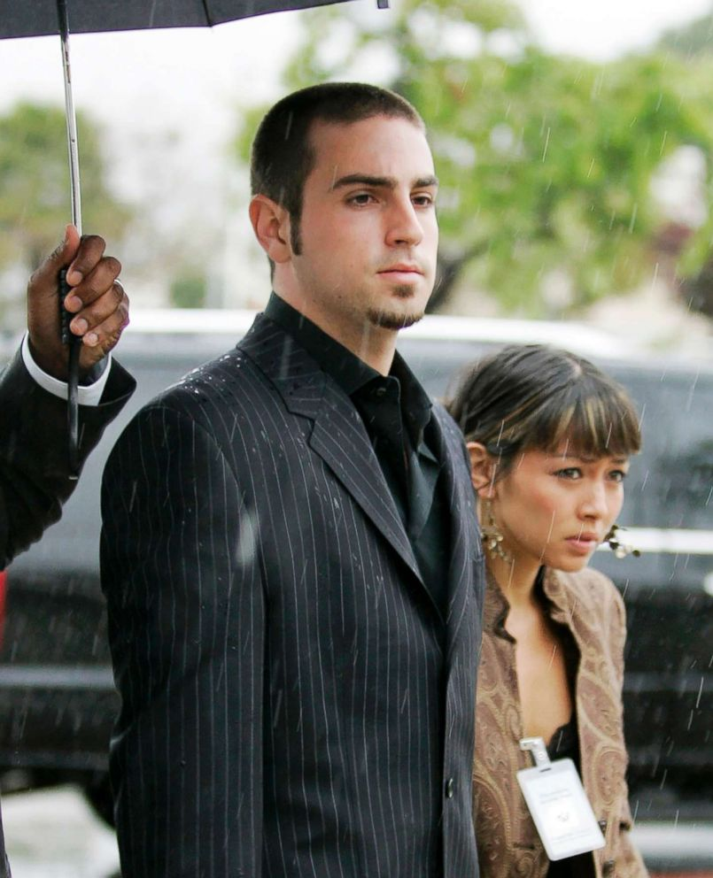 PHOTO: In this May 5, 2005 file photo, defense witness for the Michael Jackson child molestation trial, Wade Robson, center, arrives for court at the Santa Barbara County Courthouse in Santa Maria, Calif.