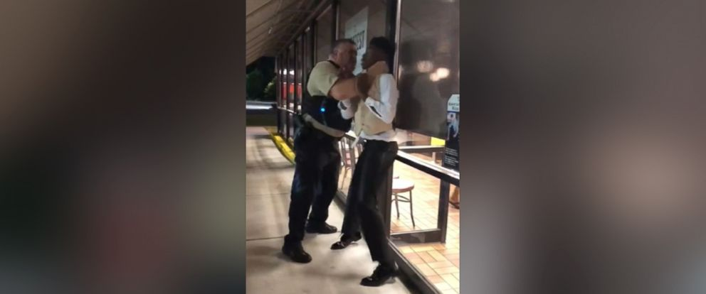 PHOTO: A Warsaw police officer choked Anthony Wall after an altercation at a Waffle House in North Carolina.