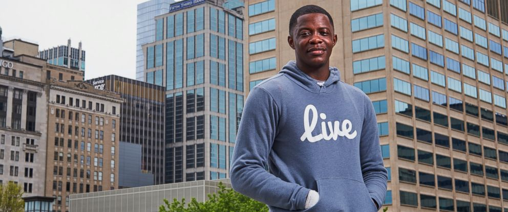 PHOTO: James Shaw Jr., who disarmed the man who opened fire at a Waffle House, poses for a photo in Nashville, Tenn., April 23, 2018.