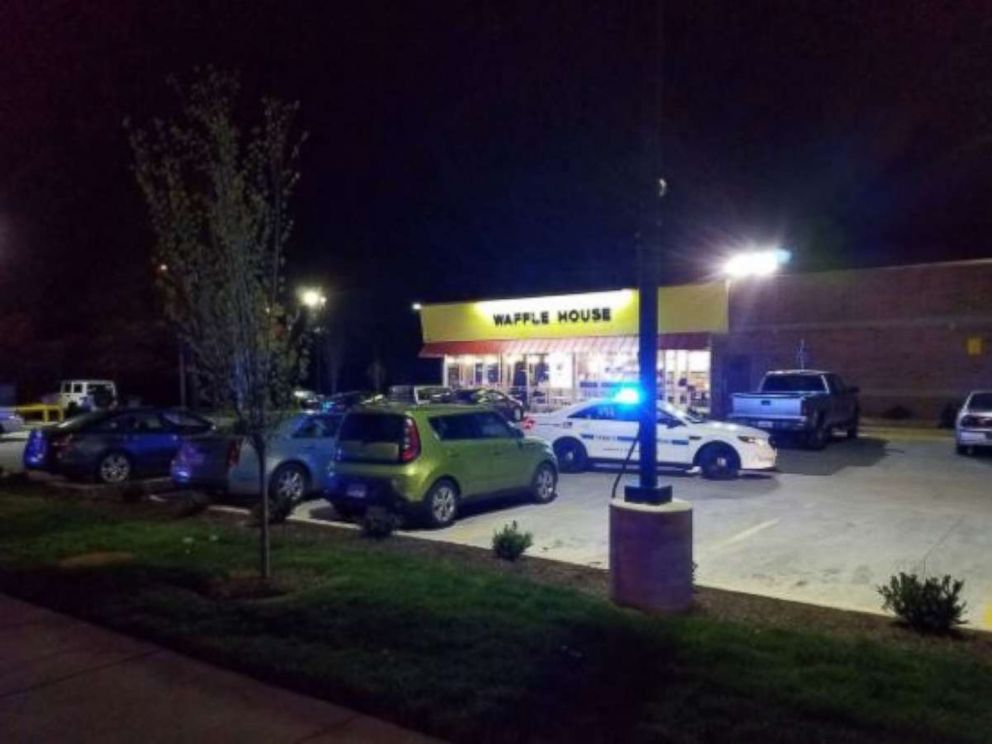 Three people were killed and four others wounded in a shooting at a Waffle House in Antioch, Tennessee, on Sunday, April 22, 2018.