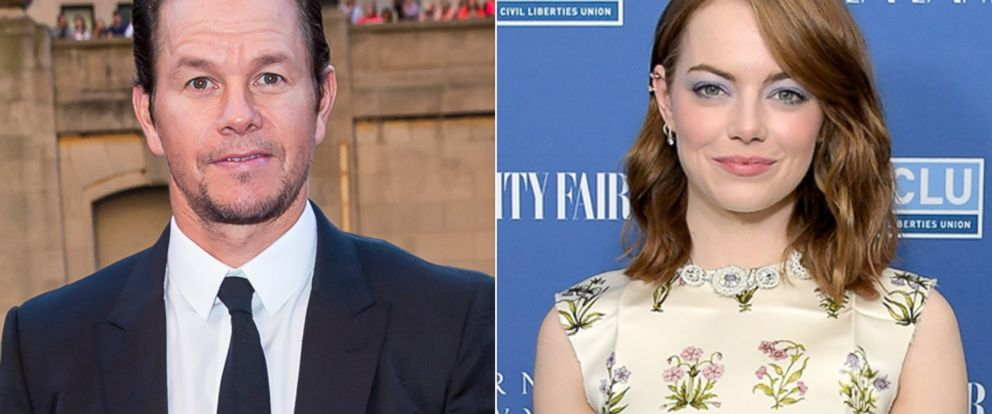 """PHOTO: Mark Wahlberg appears at the Transformers The Last Knight Chicago premiere, June 20, 2017, in Chicago.   Emma Stone attends Vanity Fair and Barneys New York Private Dinner in Celebration of """"La La Land,"""" Feb. 22, 2017, in Los Angeles."""