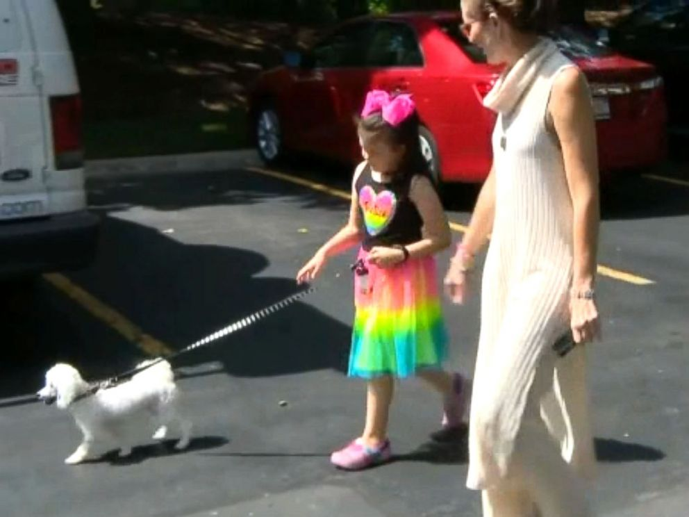 PHOTO: Wilmette, Illinois, resident Corey Widen was investigated by the Illinois Department of Children and Family Services after an anonymous caller reported that her daughter was walking the family dog alone.