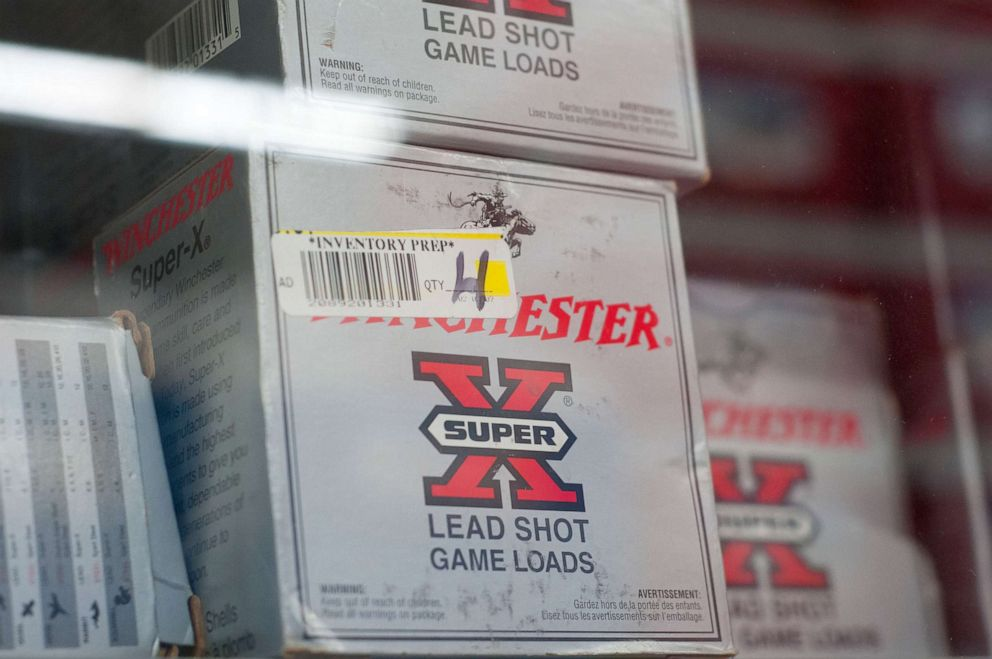 PHOTO: Walmart carrying ammunition on shelves in their store.
