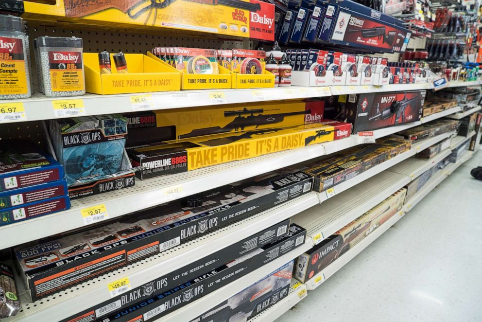PHOTO: Walmart in Fort Worth, Texas sells a variety of rifles BBs, and ammunition, June 26, 2015.