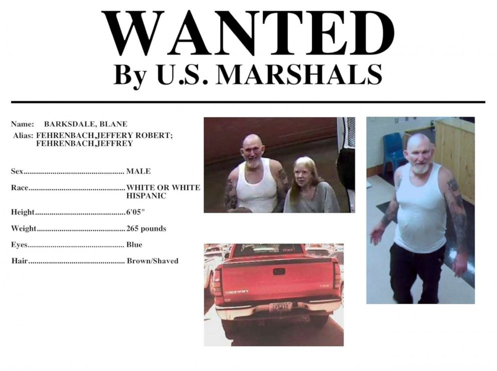 PHOTO: Authorities are looking for Blane Barksdale, 56, and Susan Barksdale, 59, fugitives wanted in the killing an Arizona man.