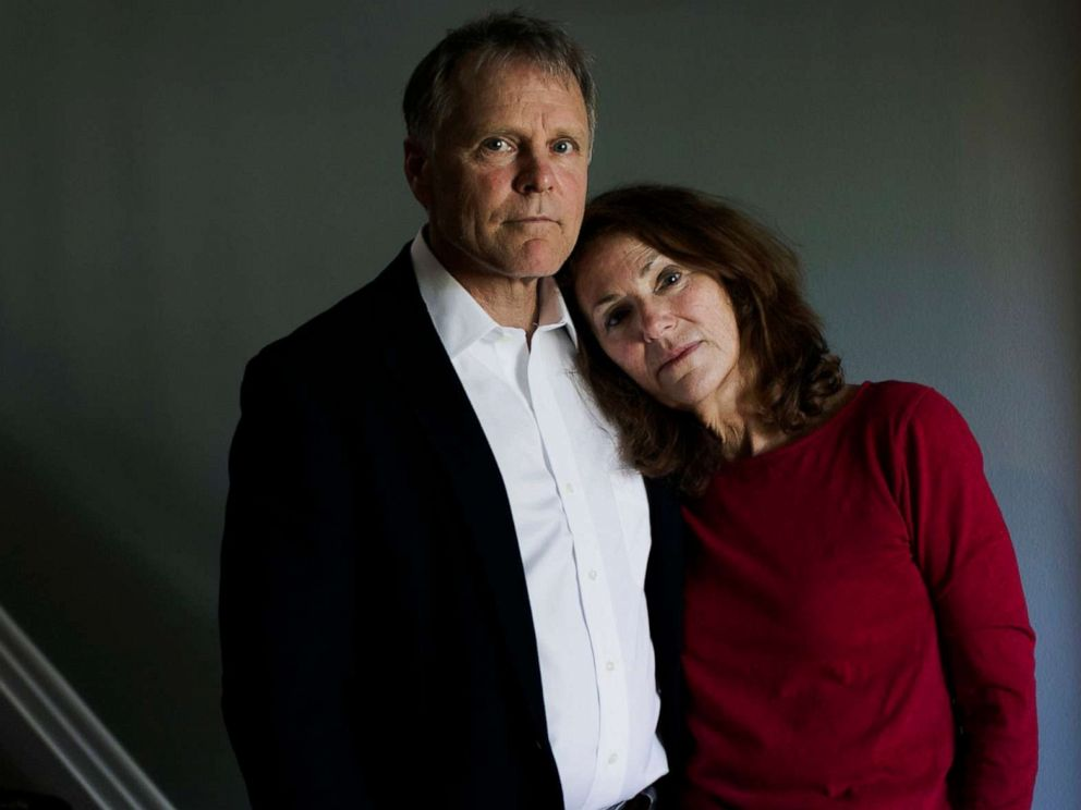 PHOTO: In this April 26, 2017, file photo, Fred and Cindy Warmbier are shown at their home in Wyoming, Ohio.