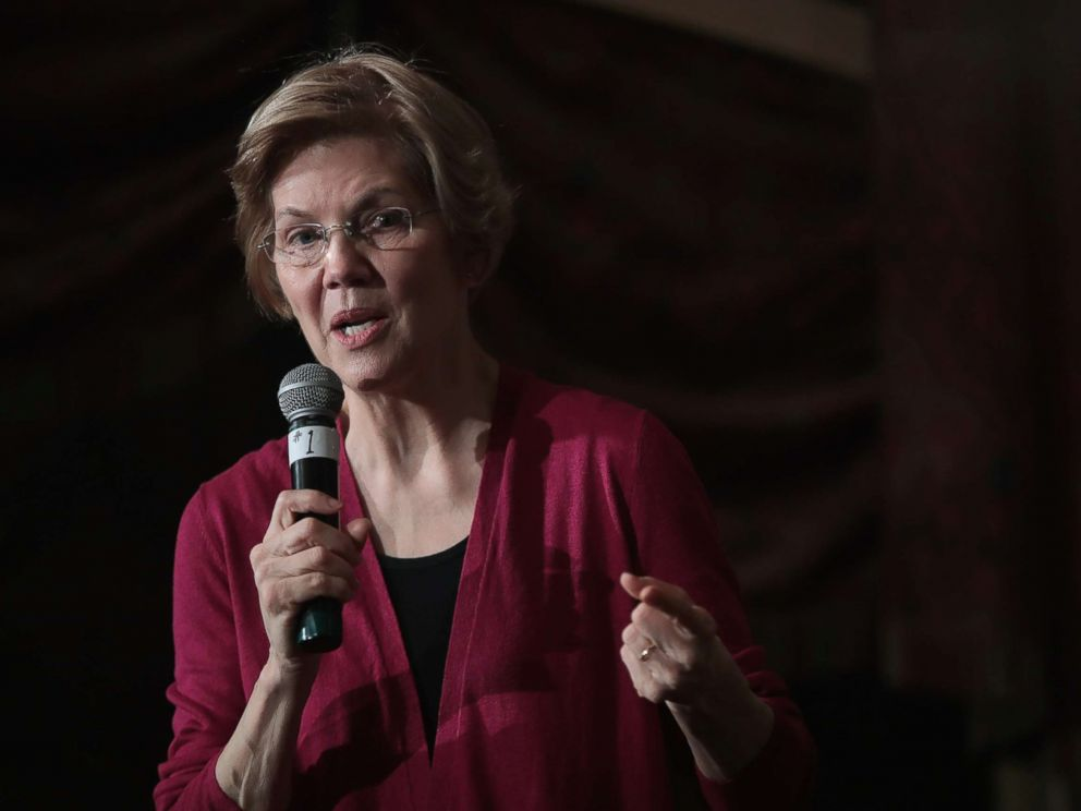 PHOTO: Sen. Elizabeth Warren (D-MA) speaks to guests during an organizing event at the Orpheum Theater, Jan. 5, 2019, in Sioux City, Iowa.