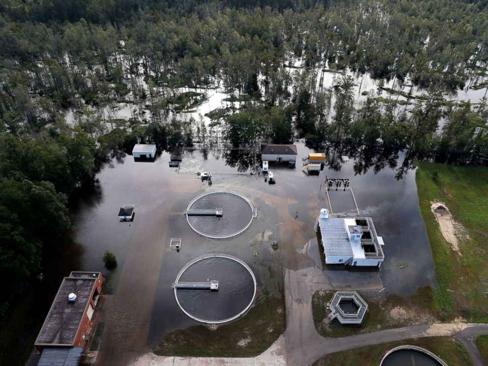 Startling before and after images show Hurricane Florence's true power
