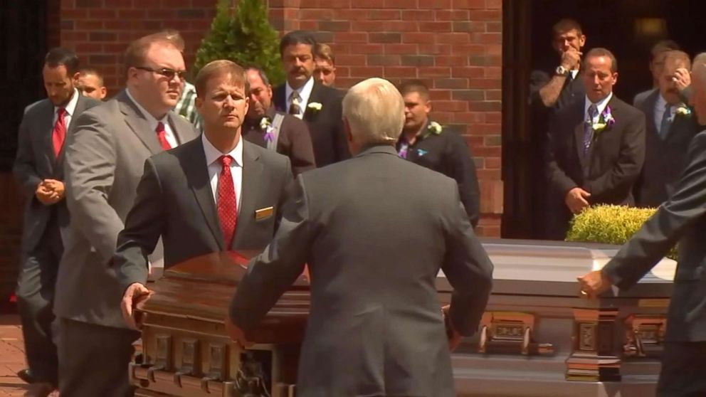 PHOTO: A funeral mass for Shanann Watts, daughters Bella and Celeste, and unborn son Nico was held at Sacred Heart Catholic Church in Pinehurst, N.C.