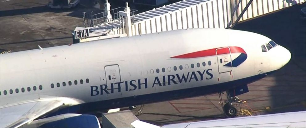 PHOTO: British Airways flight 213 from London to Boston sits at a gate at Logan International Airport in Boston on Nov. 17, 2015..