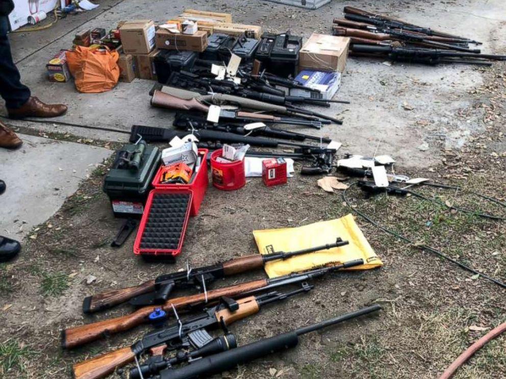 PHOTO: Weapons cache seized at a home in Laguna Beach, Calif., Nov. 27, 2018.