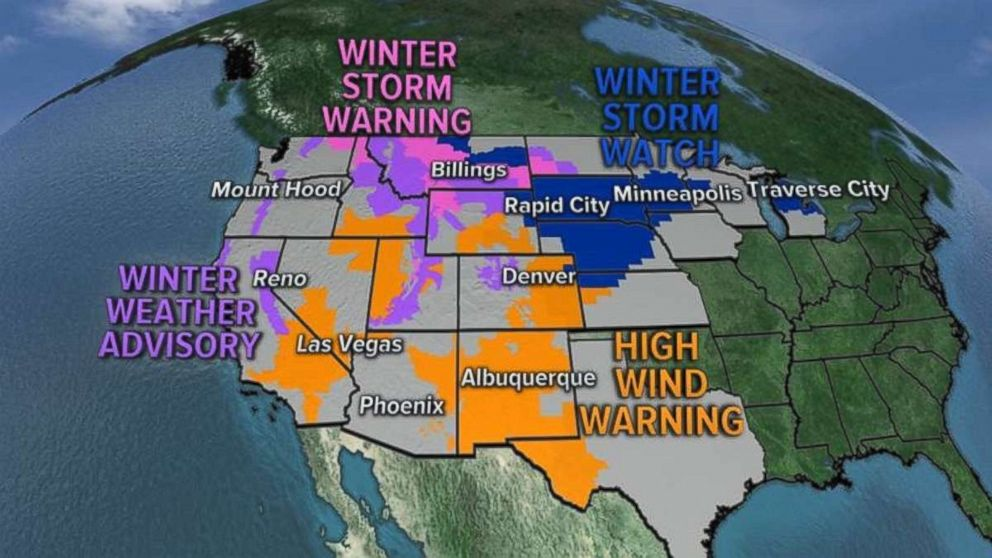 Dozens of states are under watches and warnings.