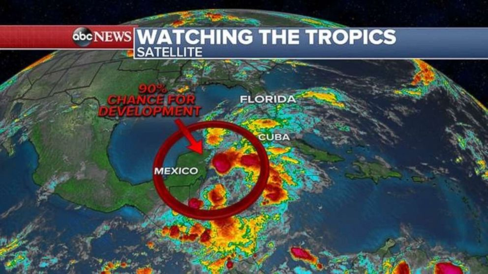 There's a 90 percent chance of a tropical or subtropical depression or storm forming near the Gulf Coast this weekend.