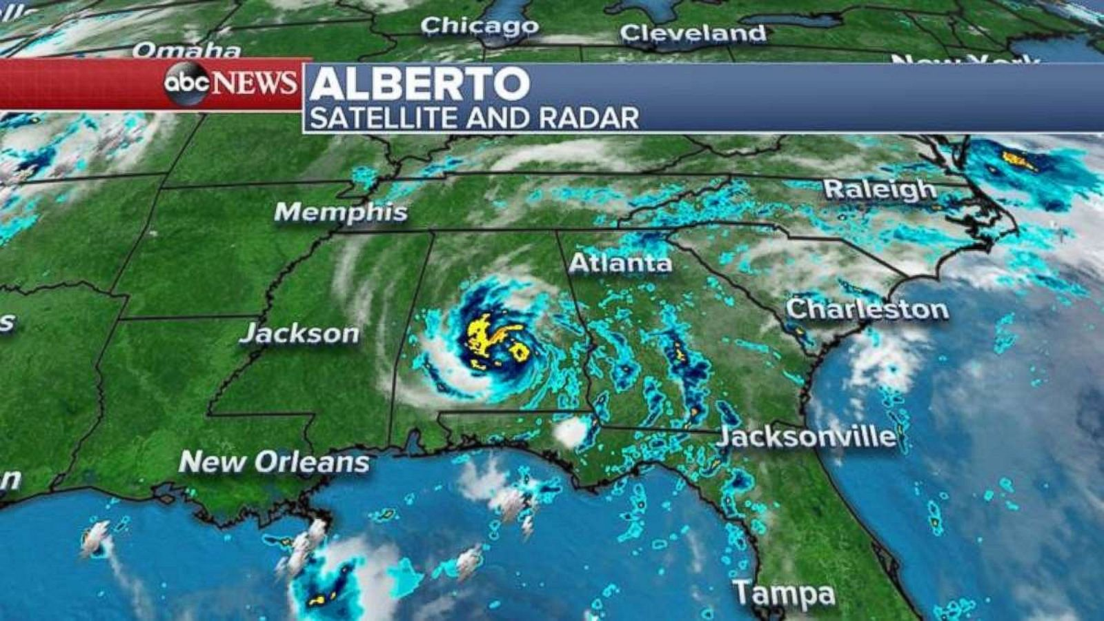 Alberto lingers amid Maryland floods and record highs in