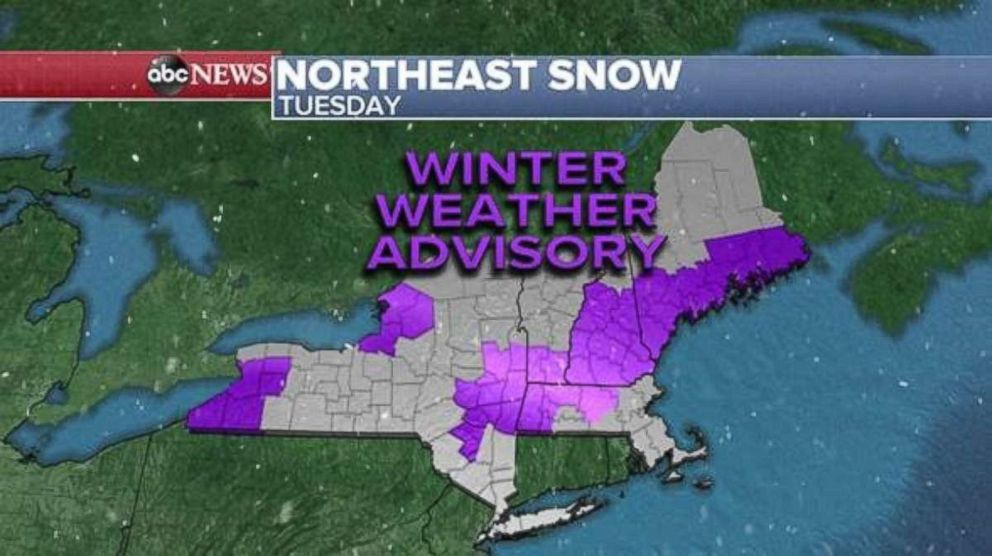Winter weather advisories are in effect this morning.