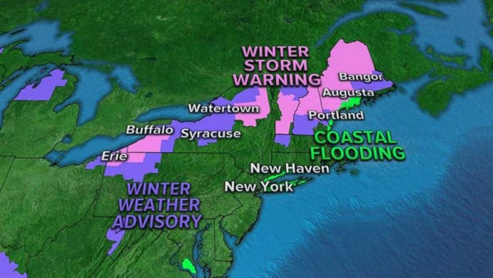 Advisories and warnings have already been issued throughout the Northeast this morning.
