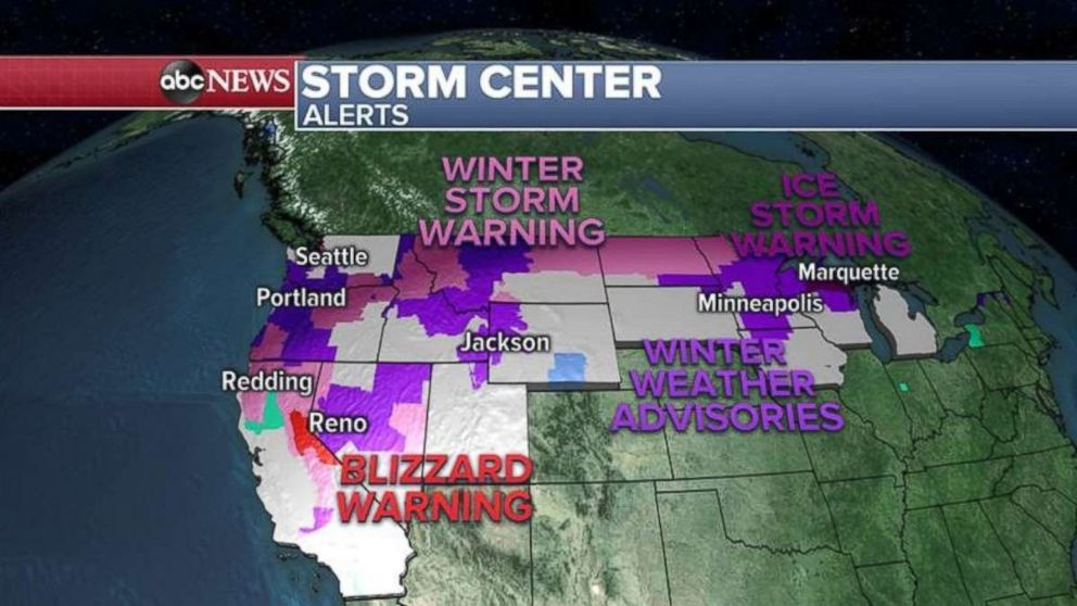Warnings have been issued today throughout the Northwest and upper Midwest.