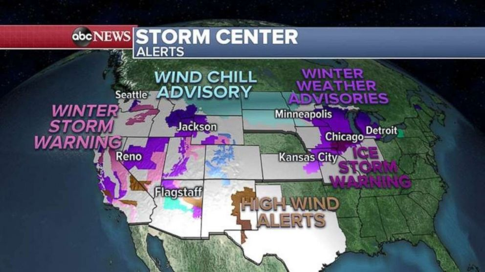 Weather advisories and alerts have been issued over much of the U.S. this morning.