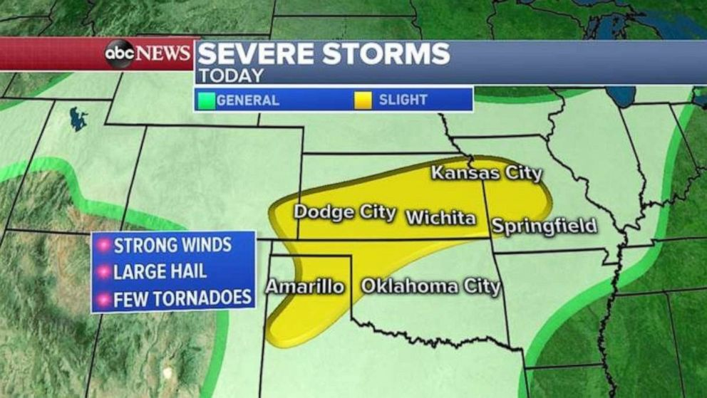 PHOTO: Severe weather is moving into the Plains.