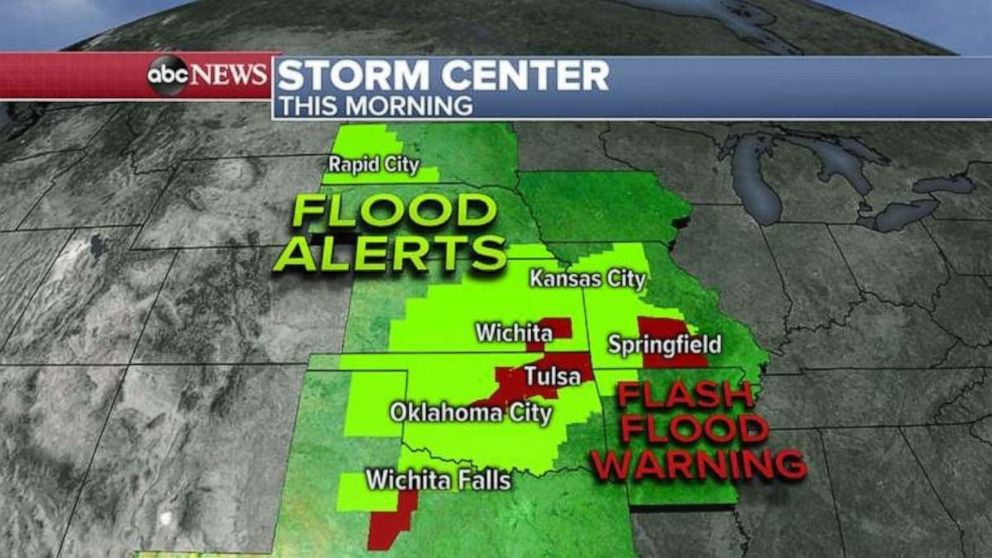 PHOTO: Flood alerts were issued Tuesday morning across seven states.