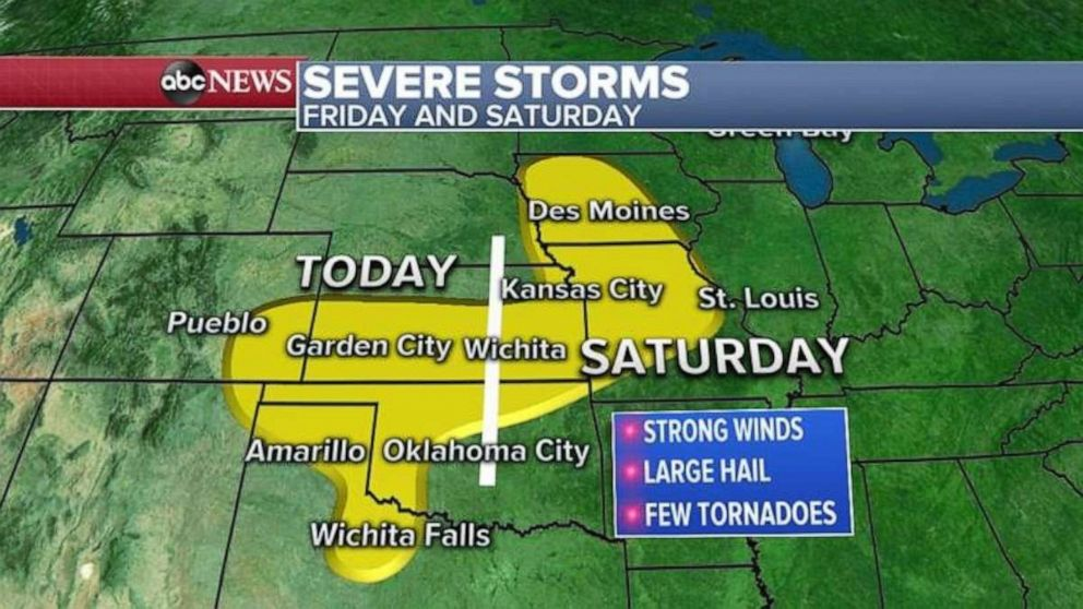 PHOTO: The Midwest is expected severe storms on Friday and Saturday.