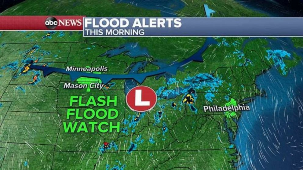 PHOTO: Flood alerts were issued Wednesday morning.