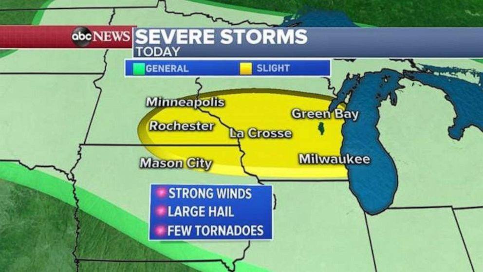 PHOTO: Wisconsin could see more severe storms on Thursday.