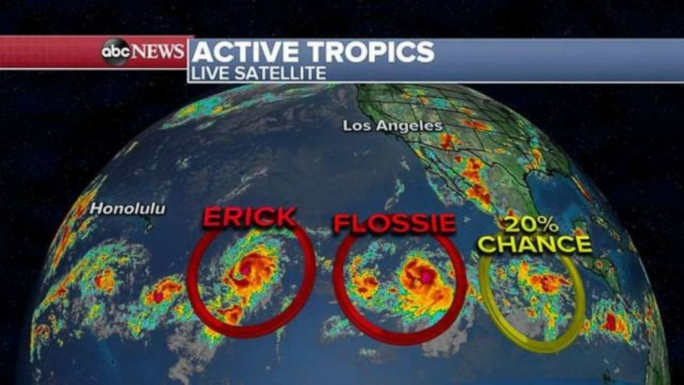 PHOTO: Erick and Flossie are both active in the Pacific.