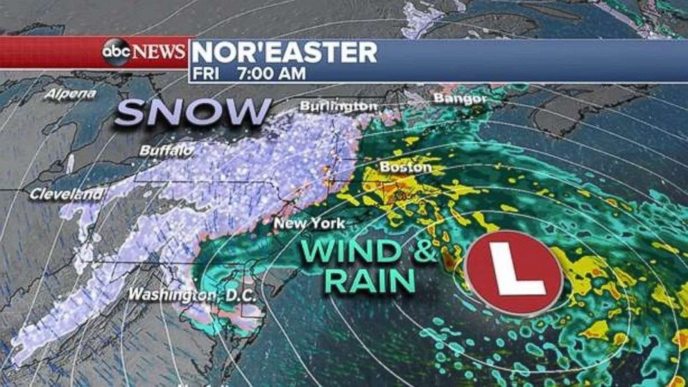 Nor\'easter bears down on East Coast as California braces for its own ...