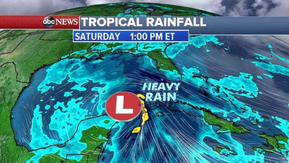 A storm system will be approaching the Gulf of Mexico on Saturday.