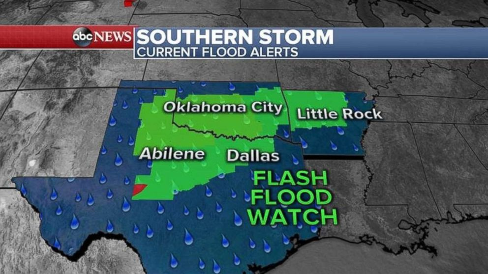 Flood alerts have been issued for much of the South this morning.