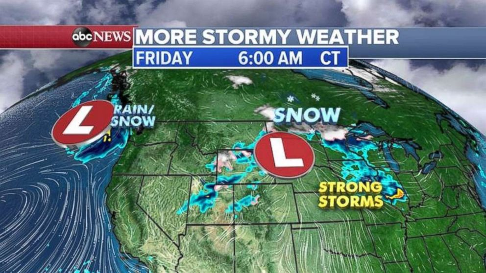More stormy weather is expected tomorrow.