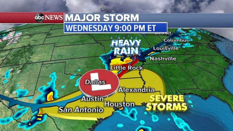 The Gulf Coast is expected to get battered later tonight.