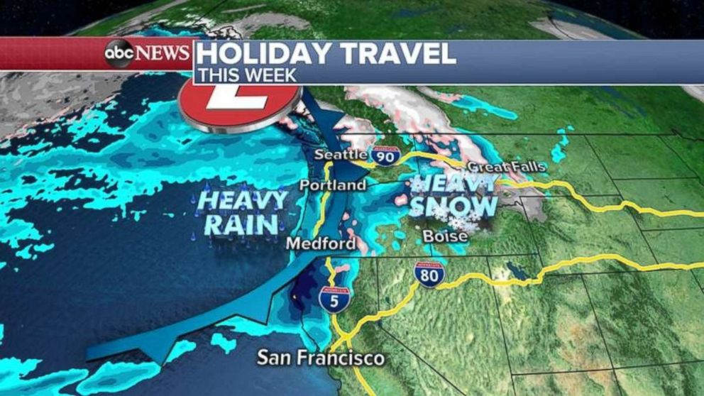 Parts of the West Coast could see heavy rain this week.
