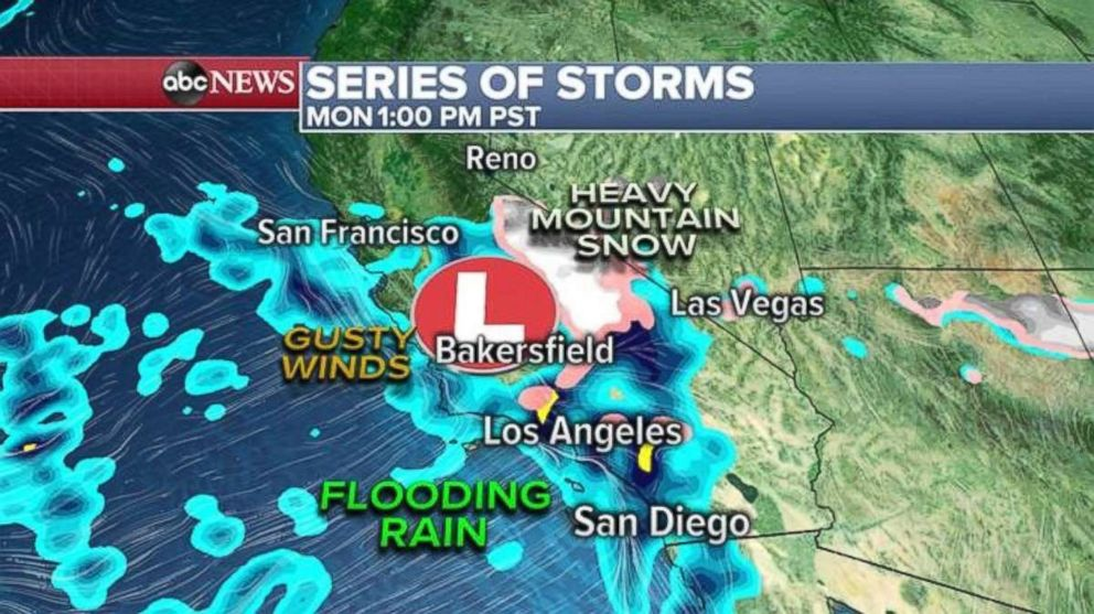 The latest in a series of storms is striking the West Coast today.