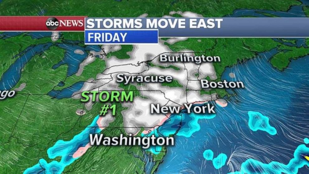 The first upcoming winter storm should hit the Northeast tonight.