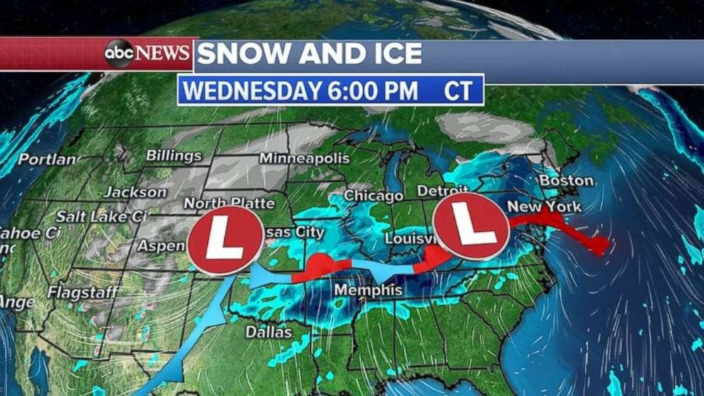 Winter conditions are expected tonight in the Midwest.