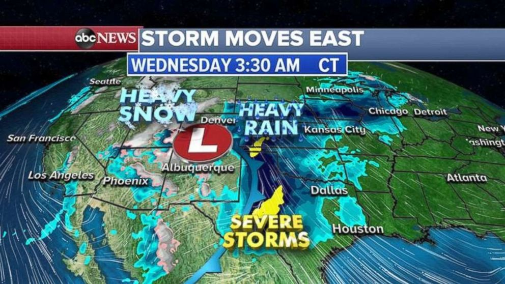 PHOTO: Severe storms are forecast in Texas early Wednesday.
