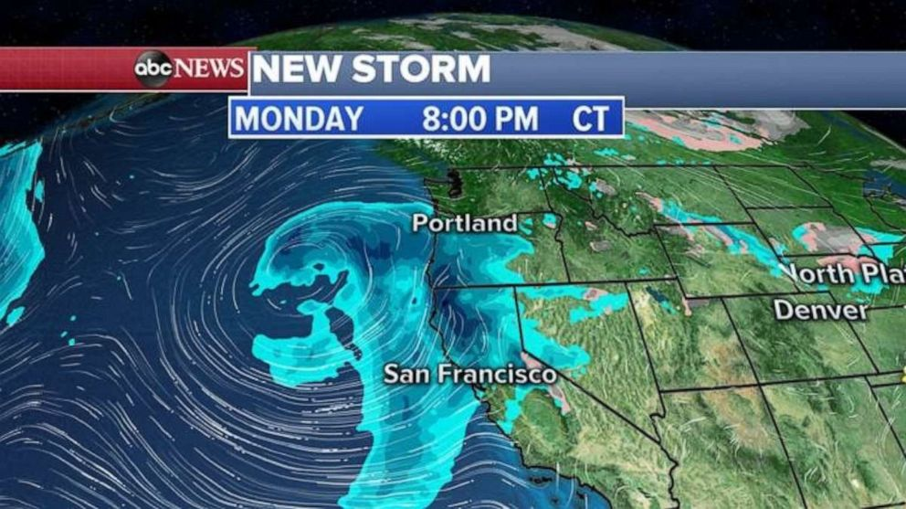 The new storm takes aim at the West Coast tonight.
