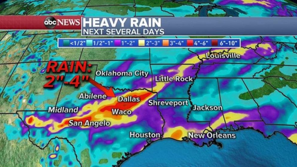 PHOTO: Heavy rain is battering Texas the next few days.