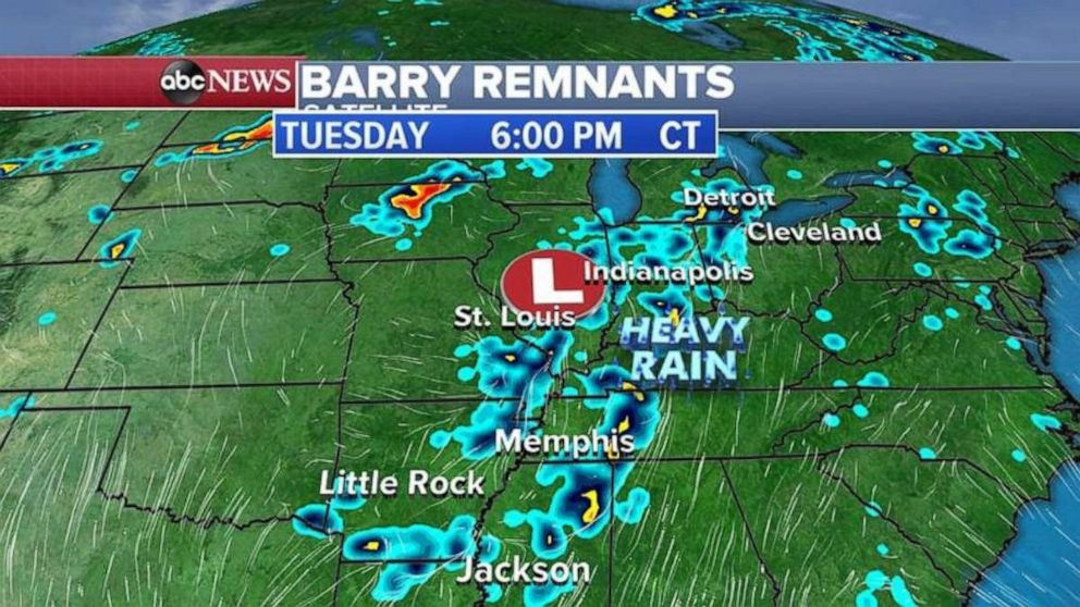 PHOTO: The Midwest is looking at more rain on Tuesday night.