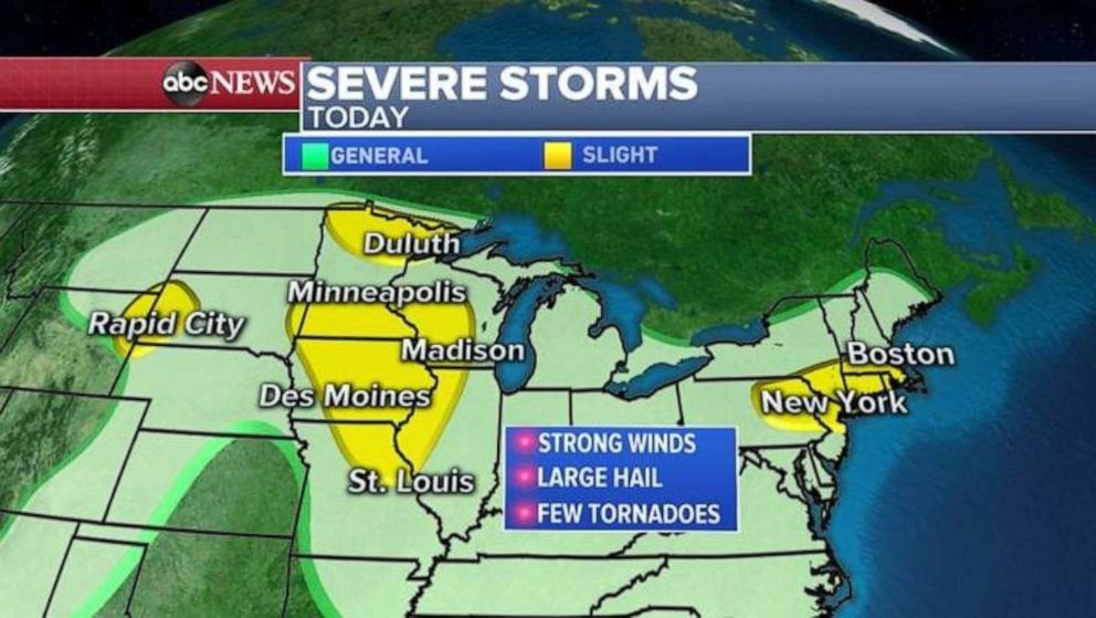 PHOTO: Severe storms are forecast for the Upper Midwest on Wednesday.