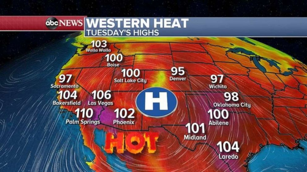 PHOTO: Tuesday should be another scorcher in the Southwest.