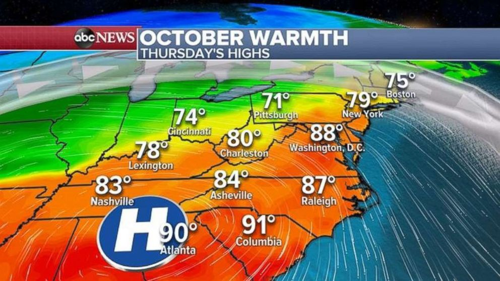 Summer-like highs are expected in much of the U.S. today.