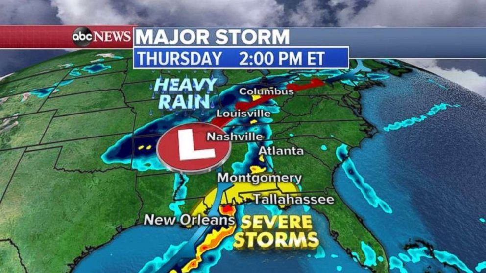 More severe storms are expected on Thursday.