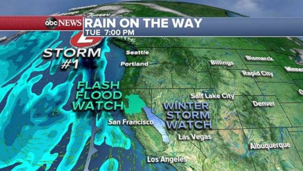 Much-needed rainfall is approaching the West Coast.