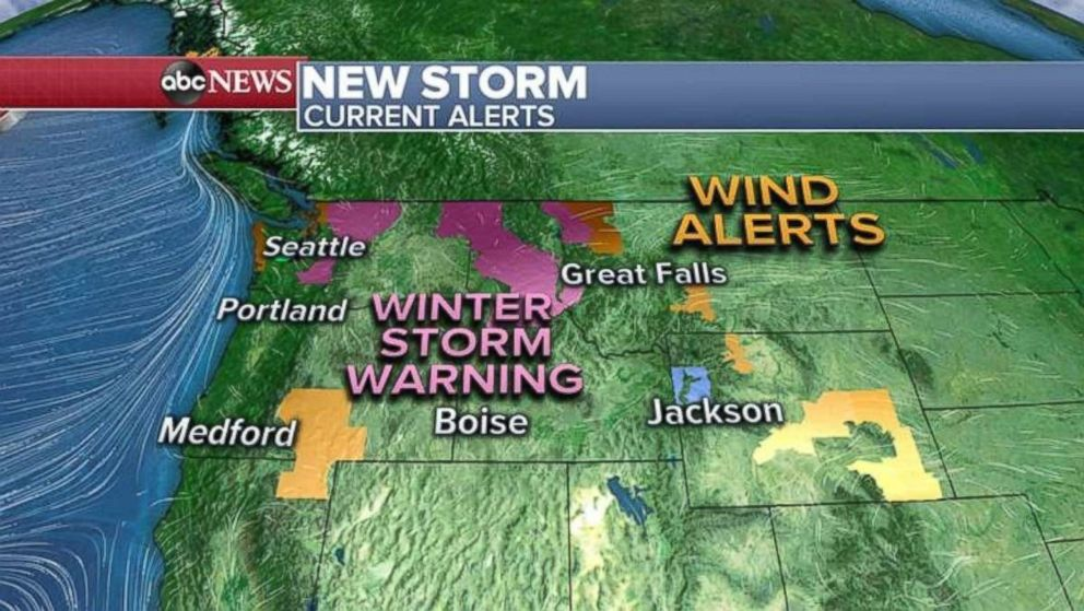 Six states in the West are under weather alerts and warnings this morning.