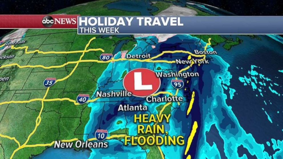 Parts of the East Coast could see heavy rain and flooding this week.