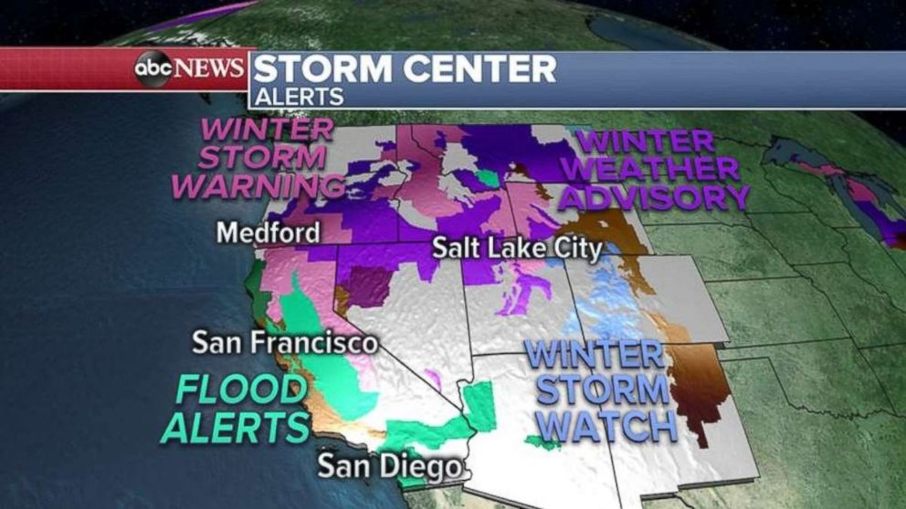 Storm warnings and alerts have been issued out West this morning.